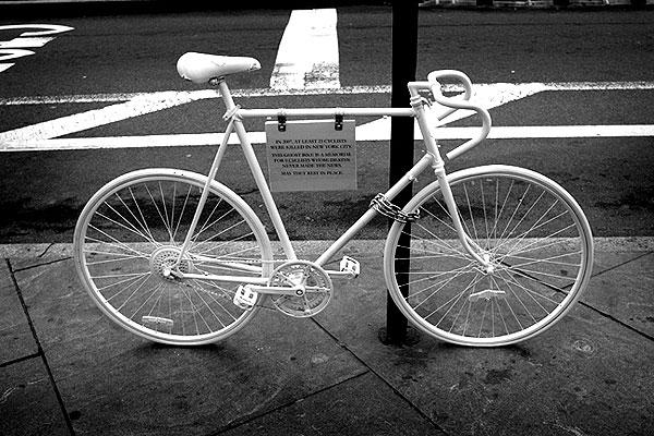 9.  Ghost Bikes